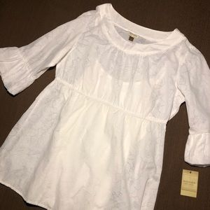 NWT Sonoma White Blouse with Bell Sleeves